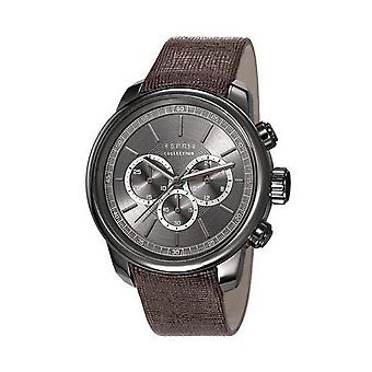 ESPRIT collection mens watch watch of Chrono Zethus leather EL102171003