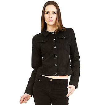 Equipado chaqueta de Denim Stretch - negro