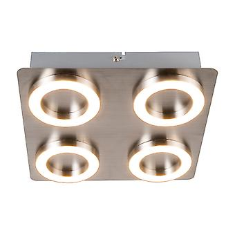 QAZQA plafond Lamp hoepel 4 staal
