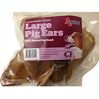Antos store svin ører 10 Pk