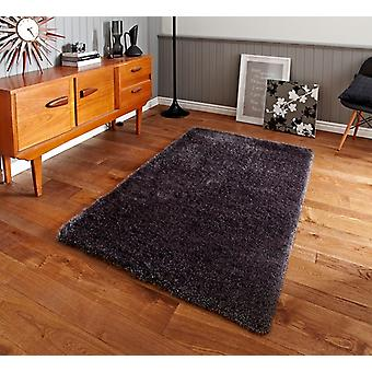 Luxury High Sheen Heavyweight Dense Grey Shaggy Area Rug - Geneva