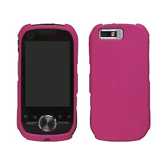 Two piece Soft Touch Snap-On Case for Motorola iDen Sprint i1 - Hot Pink