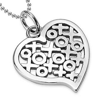 Kisses and Hugs Heart pendant, Stainless Steel Jewellery with Chain