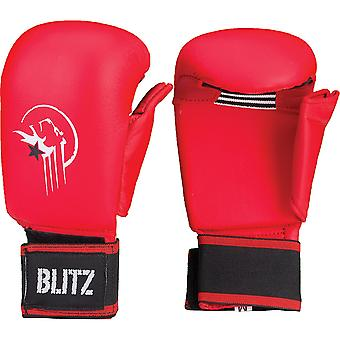 Blitz Sports Karate Elite PU Sparring Mitts - Red
