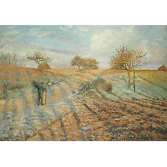 Camille Pissarro - White Frost Poster Print Giclee