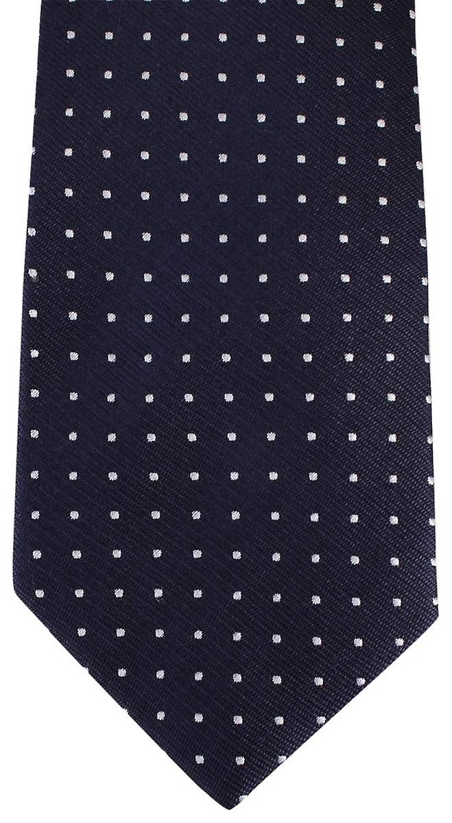 David Van Hagen Spotted Tie - Navy/White