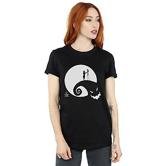 Disney Women's Nightmare Before Christmas Moon Oogie Boogie Boyfriend Fit T-Shirt