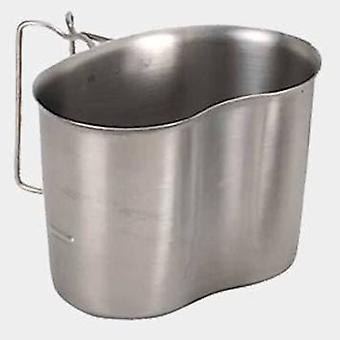 De Buyer Inox cup with 2 folding handles 13,6x9x9,5 cm (Garden , Camping , Kitchen)