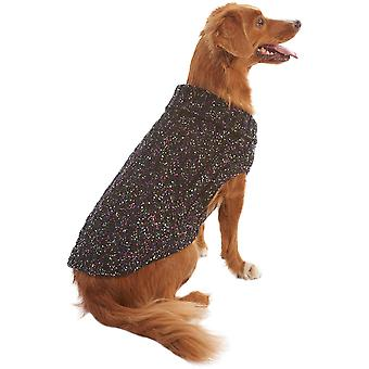 Dog Multi-Crochet Sweater-Black Extra Small 601613