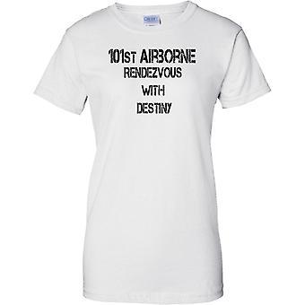 U.S. 101st Airborne Motto - Rendezvous med öde - elit armé - damer T Shirt