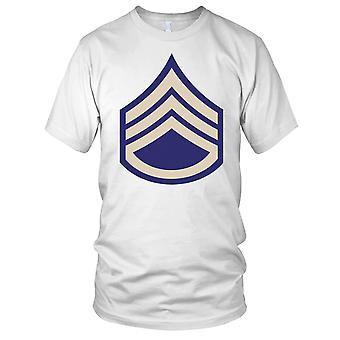 US Army WW2 Staff Sergeant Chevrons Clean Effect Ladies T Shirt