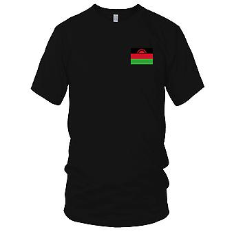 Malawi Land Nationalflagge - Stickerei Logo - 100 % Baumwolle T-Shirt Kinder T Shirt