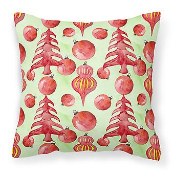 Red Christmas Tree and Ornaments Fabric Decorative Pillow