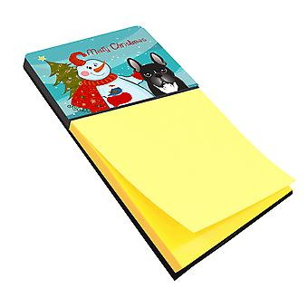 Carolines Treasures  BB1847SN Snowman with French Bulldog Sticky Note Holder