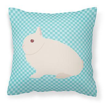 Синий кролик Hermelin проверить ткани декоративные подушки