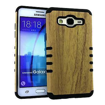 Rocker Slim Case for Samsung ON5 -Light Wood Pattern Snap&Black Skin