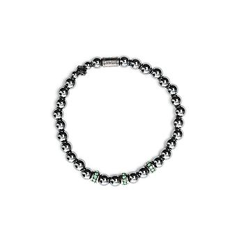 Beamay BBB02JEWELSGREEN green mens steel bracelet