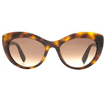Alexander McQueen Edge Cateye Sunglasses In Havana