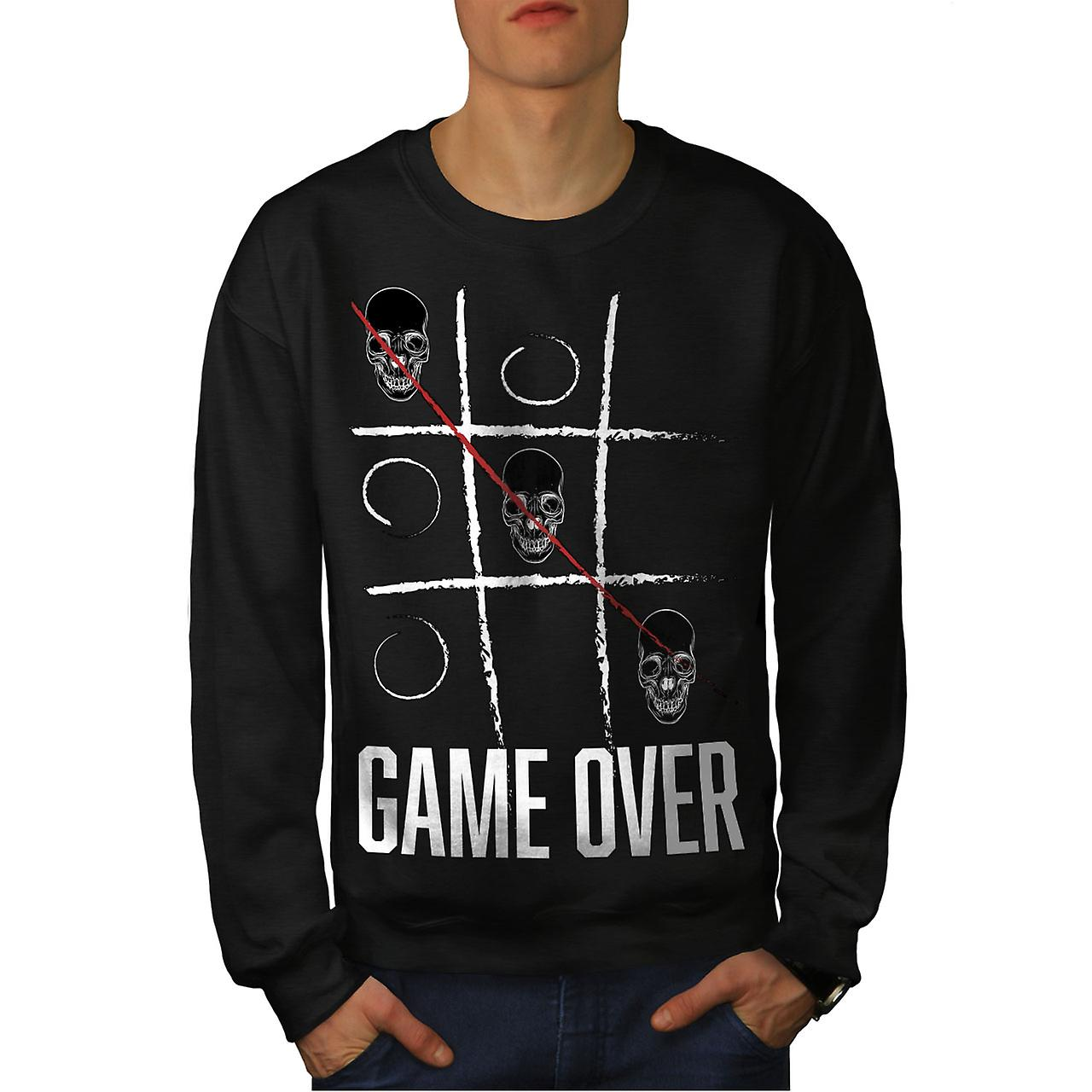 Game over crâne Geek hommes noirSweatshirt