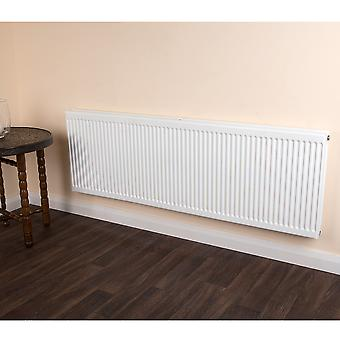 Round Top Radiator - Double - Type 22 - White - H900 x W300mm