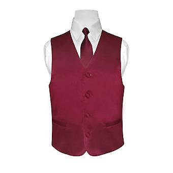 CHŁOPCA kamizelka sukienka & krawat stałe szyi krawat zestaw
