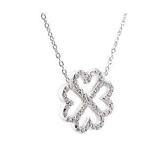 Christian four hearts cubic zirconia pendant