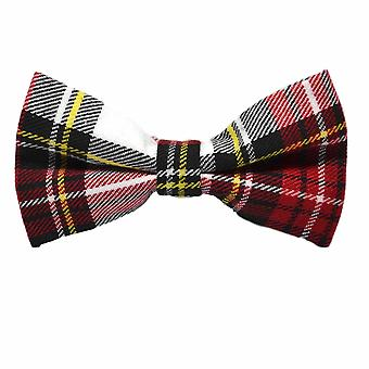 Traditionele witte & rode Tartan strikje, Check, Plaid