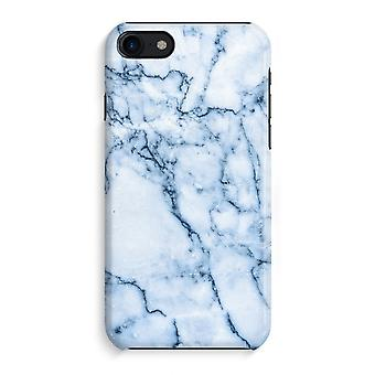 iPhone 8 Full Print Case (Glossy) - Blue marble