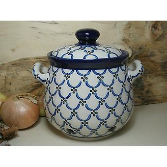 Onion pot, 3500 ml, 23 x 22 cm, 25 - traditional polish pottery - BSN 7755