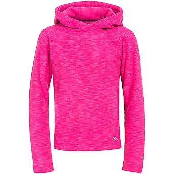 Trespass Boys & Girls Moonflow Hooded Soft Knitted Marl Fleece Jacket