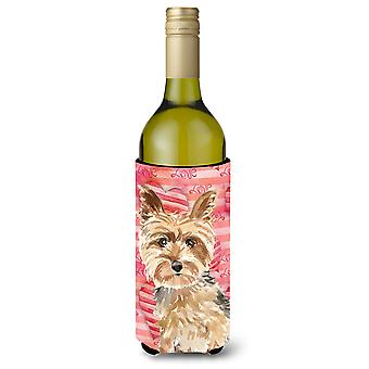 Amor un Yorkie Yorkshire Terrier botella de vino Beverge aislador Hugger