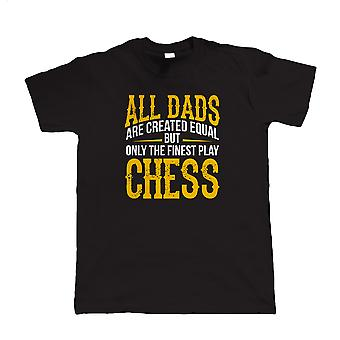 Finest Dads Play Chess, Mens T Shirt