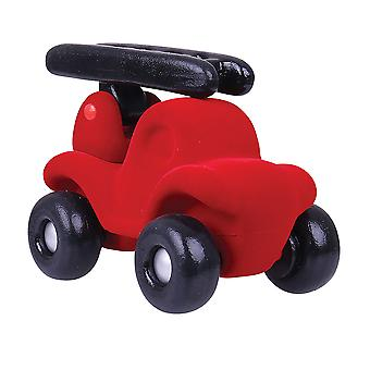 Rubbabu Soft Plush large Fireman Rubba Fire Engine (Red) Sensory Squishy Baby