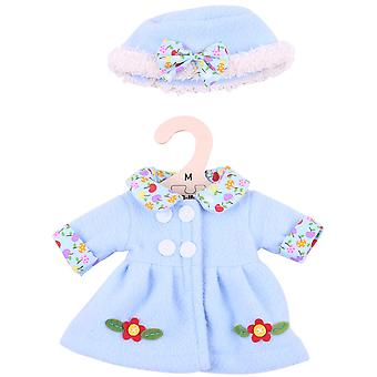 Bigjigs Toys Blue, Flowery Rag Doll Coat and Hat for 34cm Soft Doll