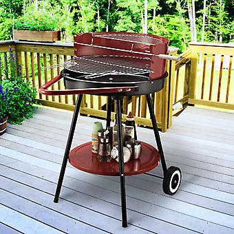 Outsunny Charcoal Trolley BBQ