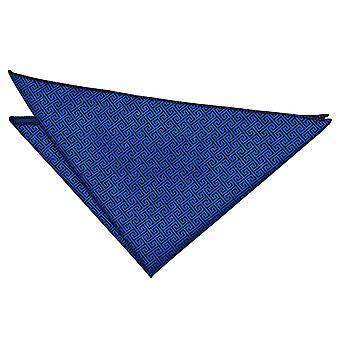 Royal Blue greco chiave Pocket Square