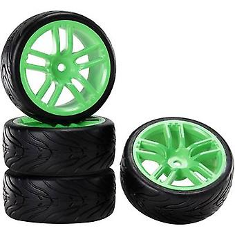 Reely 1:10 versión de camino verde de ruedas diablo GT Neon 4 PC