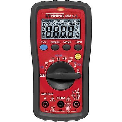 Benning MM 5-2 Handheld multimeter Digital Calibrated to  Manufacturers standards (no certificate) CAT III 600 V, CAT IV 300 V Display (counts)  6000