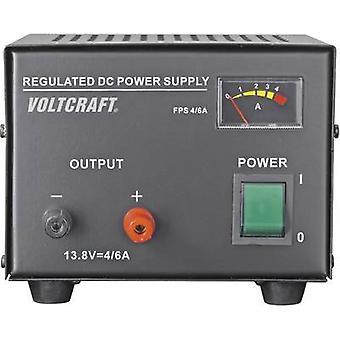 VOLTCRAFT FSP-1134 bänk PSU (fast spänning) 13,8 Vdc 4 A 55 W No. av utgångar 1 x