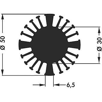 LED heat sink 2.5 C/W (Ø x H) 50 mm x 15 mm Fischer Elektronik SK 602 15 SA