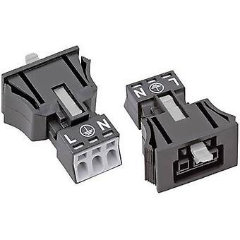Mains connector WINSTA MINI Series (mains connectors) WINSTA MINI Socket, straight Total number of pins: 2 + PE 16 A Bla