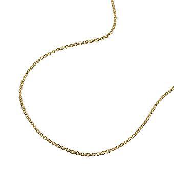 القلادة الذهبية قلادة الذهب الذهب 375 سلسلة 42 سم، سلسلة رقيقة، 9 كيلوطن الذهب