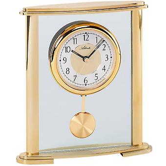 Атланта 3069 таблица часы кварцевые аналоговые золотой с маятник и стеклянные маятниковые часы