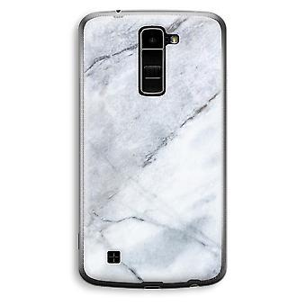 LG K10 (2016) gennemsigtig sag (Soft) - marmor hvid