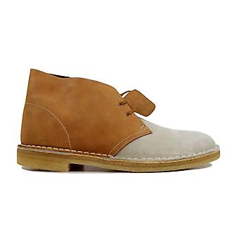 Clarks Desert Boot White/Gold 61277 Men's