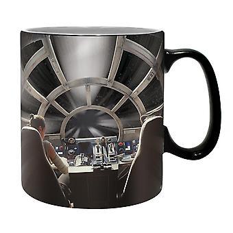 Effetto metallizzato Millennium Falcon di Star Wars XL tazza grigia, stampato, in ceramica, capienza circa 460 ml...