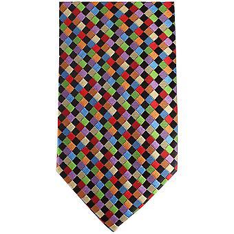 Knightsbridge Neckwear Kensington Diamond Silk Tie - Multi-colour