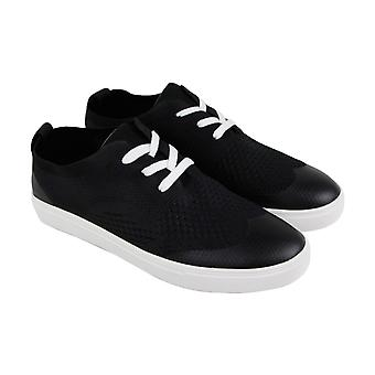 Robert Wayne Datin Mens Black Textile Lace Up chaussures Sneakers