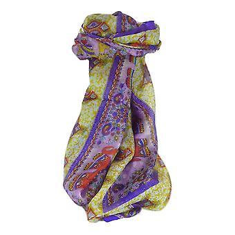 Шелковица шелка традиционный длинный шарф Vish фиолетовый, пашмины & шелка
