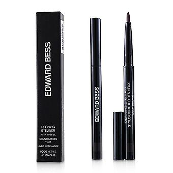 Edward Bess Defining Eyeliner With 1 Refill - # 02 Deep Brown - 0.4g/0.014oz